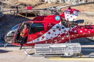 Pilot of Air Zermatt Helicopter