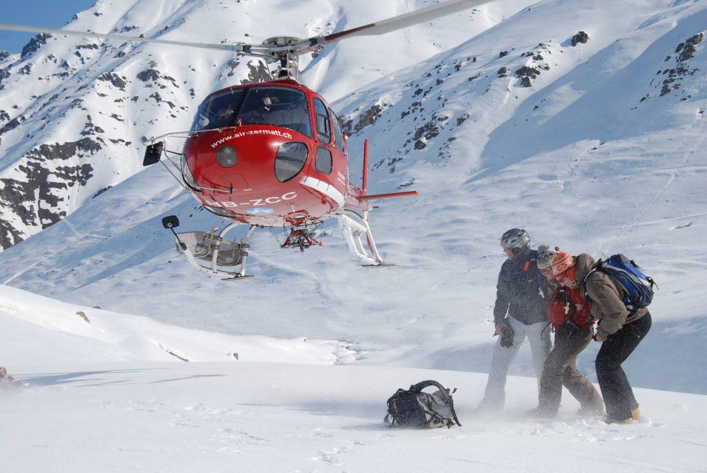 Heliskiing with Air Zermatt
