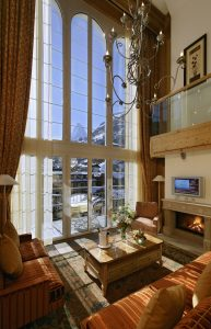 Impressive view of the Matterhorn from the suite at Mont Cervin Palace in Zermatt