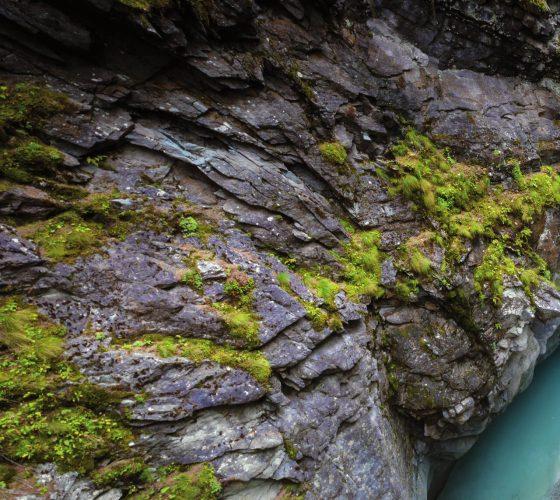 Von der Natur geformt, die Gornerschlucht in Zermatt.