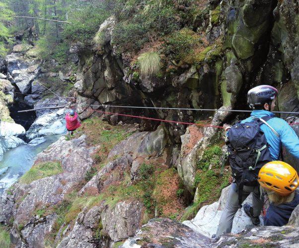 Zermatter Gornerschlucht mit Klettersteig