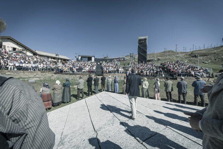 Freilichtspielbühne auf dem Riffelberg mit Schauspielern