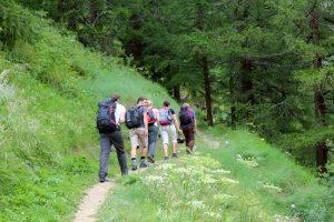 Klettersteig Schweifinen in Zermatt - Wanderung zum Einstieg