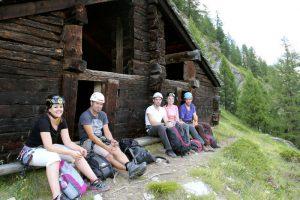 Rastplatz beim Klettersteig in Zermatt