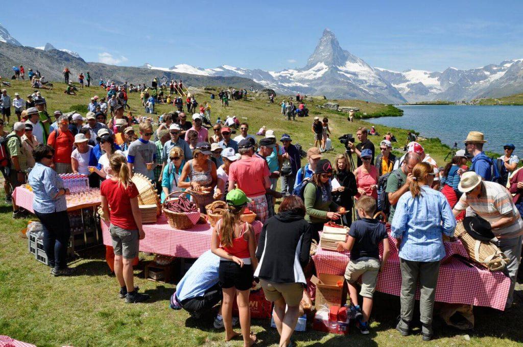 Swiss National Holiday in Zermatt Matterhorn - Stellisee