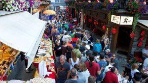 Street Party in Zermatt on Swiss National Holiday