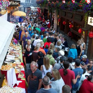 Street Party in Zermatt on Swiss National Holiday