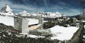 Baustelle der 3S Bahn und Matterhorn
