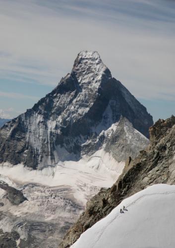 Blick auf das Matterhorn aus dem Helikopter