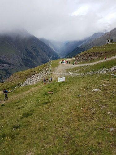 Zermatt Marathon beim Aufstieg auf den Rifflberg (c) Julia Gesswein