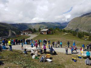 Zermatt Marathon Verplfegungsstation auf Sunnegga (c) Julia Gesswein