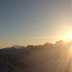 Sonnenuntergang in Zermatt