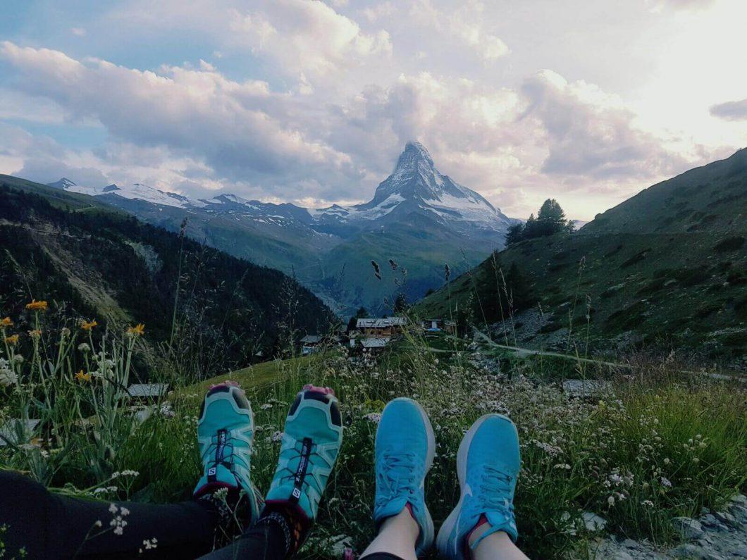Zermatt Matterhorn Ultraks for endurance atheltes with view of the Matterhorn