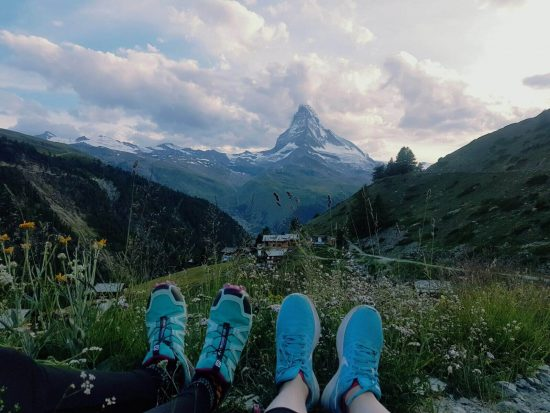 Zermatt Matterhorn Ultraks for endurance atheltes with view of the Matterhorn