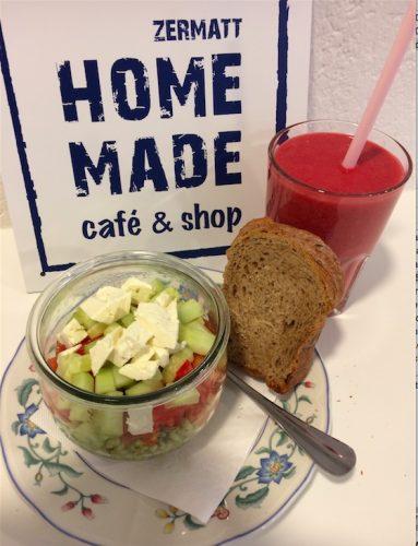 Hausgemachte Speisen und Getränke (c) Homemade Café & Shop Zermatt
