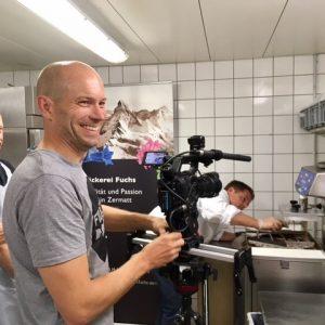 Dreharbeiten Werbefilm MICE Zermatt