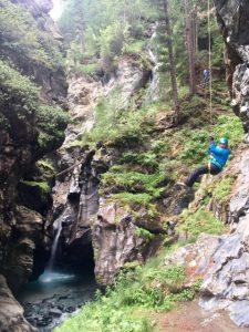 Klettern in Zermatt durch die Gornerschlucht