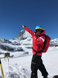 snowboard instructor in Zermatt Jako du Toit