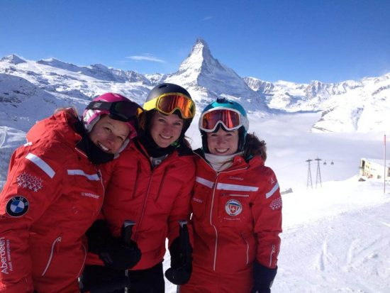 Ski school Zermatt with its ski instructors