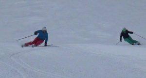 Skiing in Zermatt with ski instructor Alexandra Thalmann