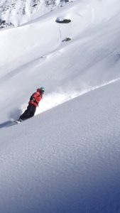 Freeriding in Zermatt with Jaco du Toit ski instructor