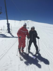 Skiing in summer in Zermatt with ski instructors