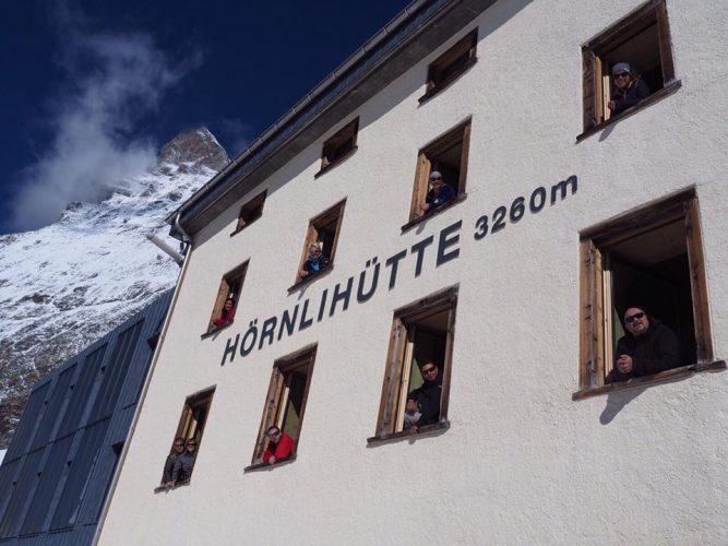 Matterhorn base camp Hörnlihütte