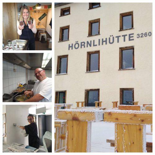 Working in Zermatt at the Hörnlihütte