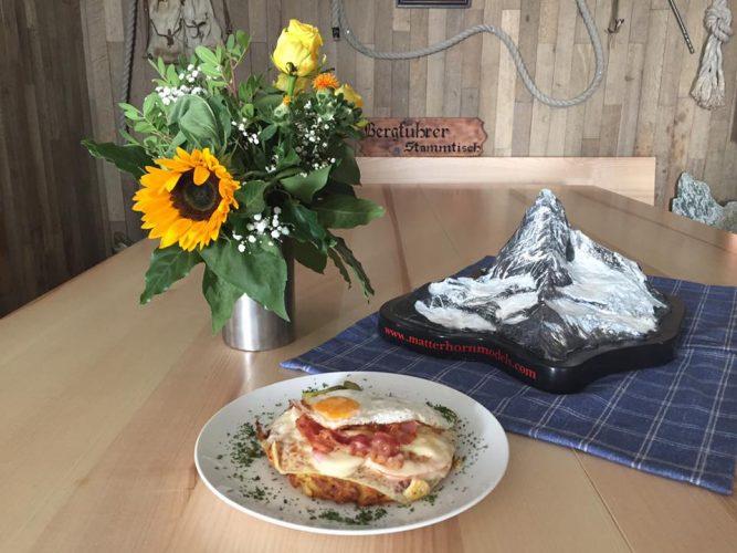 Delicious food at the Hörnlihütte in Zermatt