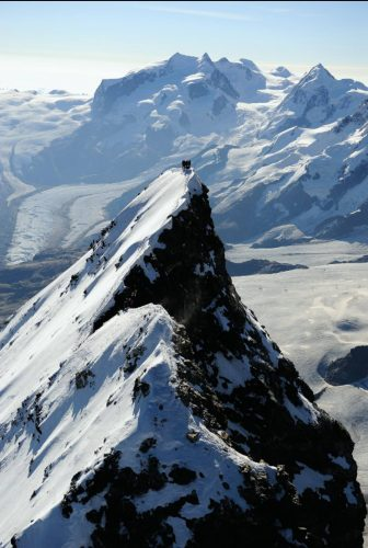 Mountaineers on the top of the Matterhorn