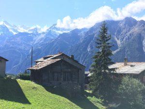 Mountain biking Zermatt at mountain bike race Swiss Epic
