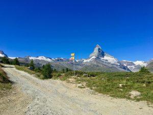 Blick auf das Zermatt Matterhorn von Sunegga