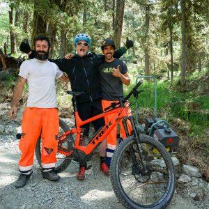 Trailbau Mountainbike Strecke Zermatt