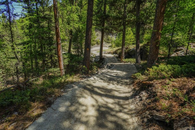 Mountainbike Trail in Zermatt im Bau