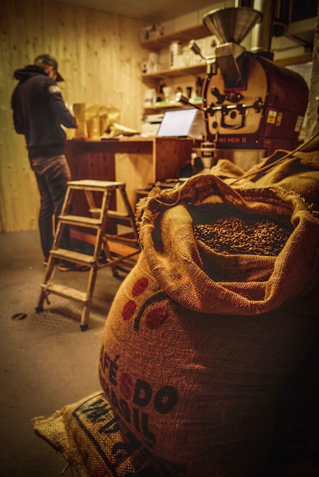Freshly roasted arabica coffee beans in Zermatt