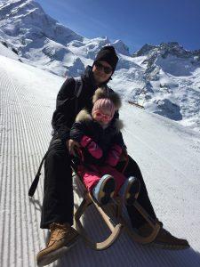 Toboggan a Zermatt avec la famille