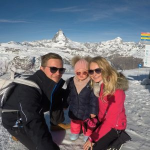 Famille Haller en Zermatt avec Mont Cervin Matterhorn