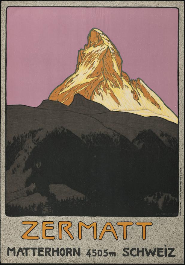 Werbeplakat Matterhorn Zermatt