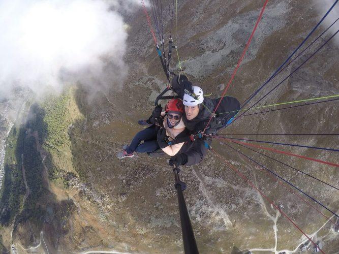 Über Zermatt - mit dem Paragleiter