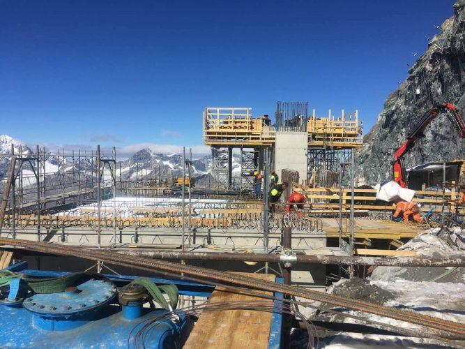 Baustelle Bergbahn, Berg, Zermatt