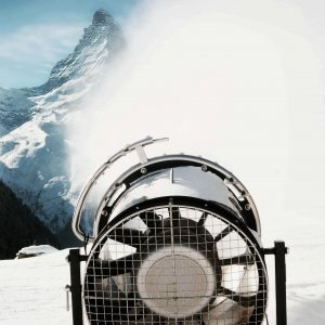 Beschneiung in Zermatt der Bergbahnen