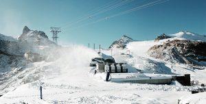 Beschneiung Zermatter Bergbahnen auf Trockener Steg