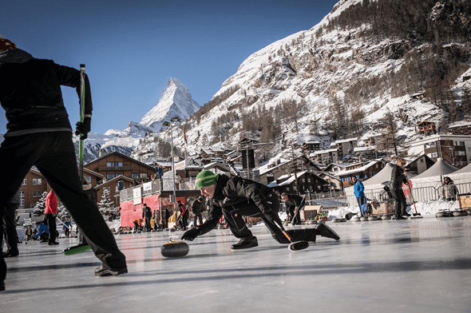 Curling in Zermatt
