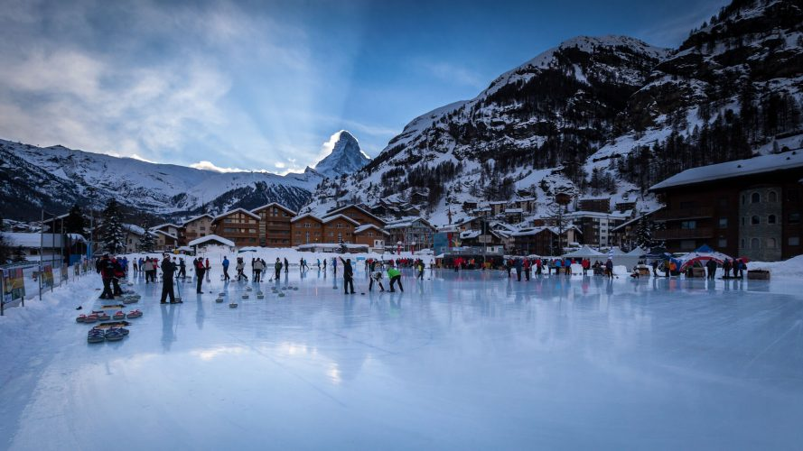 Curling Platz in Zermatt