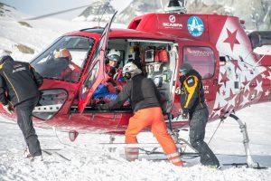 Air Zermatt im Einsatz bei Skiunfall