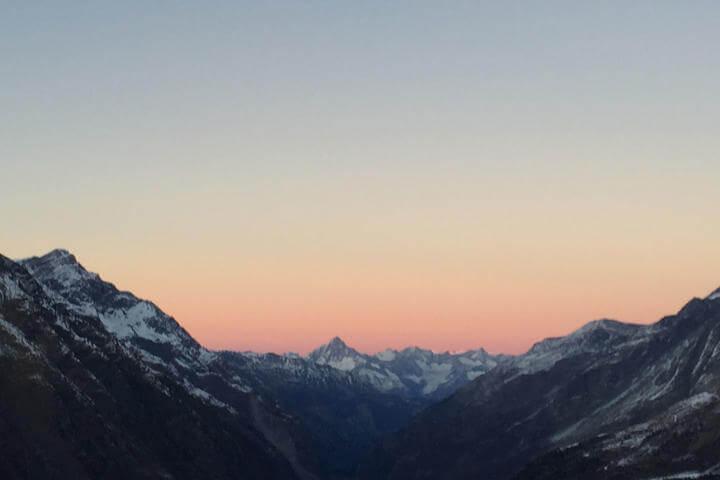 Iglu Übernachtung, Rückmarsch Sonnenaufgang