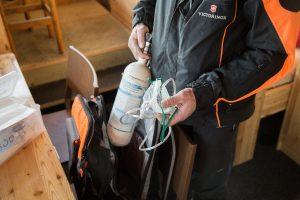 Ausrüstung der Pistenrettung in Zermatt