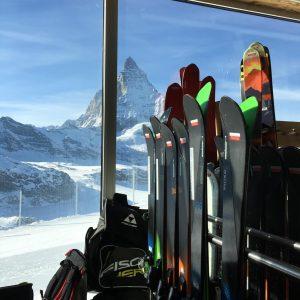 Ski-Test in Zermatt am Gletscher