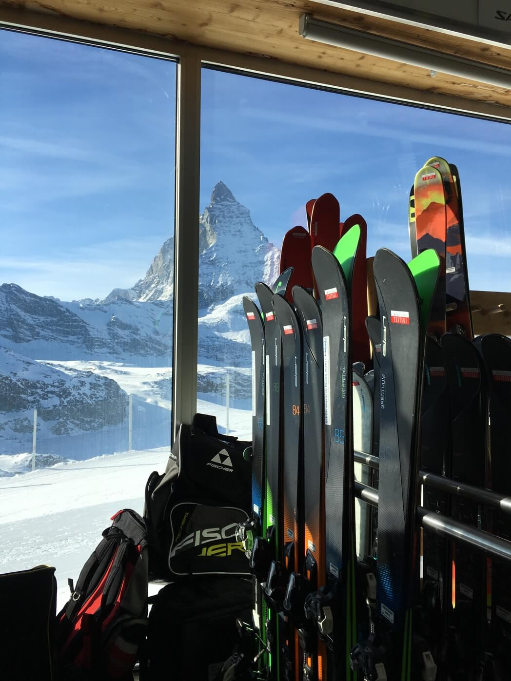 Ski-Test in Zermatt am Gletscher