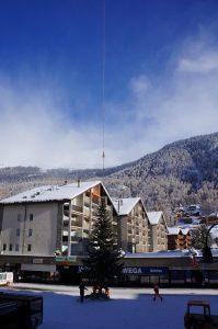Platzierung Weihnachtsbaum in Zermatt